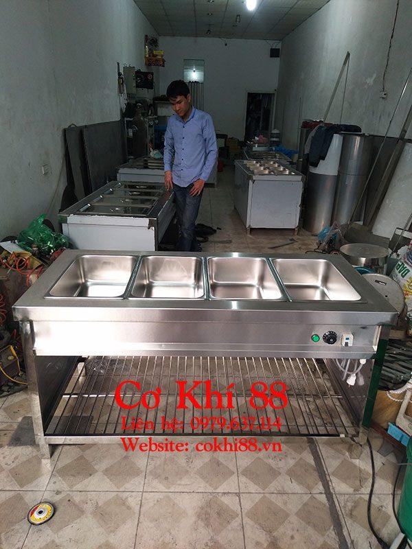 Tủ giữ nóng thức ăn công nghiệp 4 khay