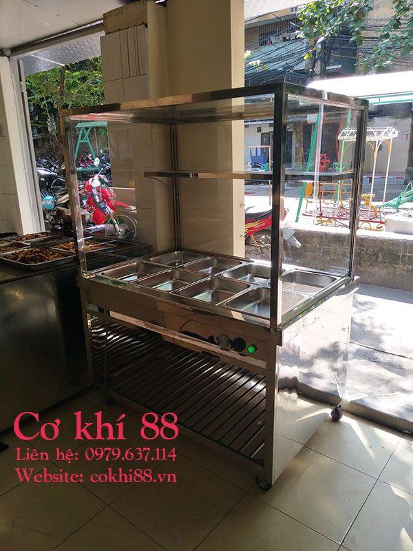 Tủ hâm nóng thức ăn 8 khay vip